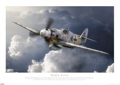 Black Tulip - The greatest fighter pilot of all time, Major Erich Hartmann, in his BF 109G-14 over the Russian Front, early 1945.