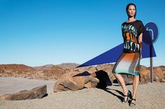 Missoni Spring/Summer 2014 campaign featuring Christy Turlington. Photographed by Viviane Sassen.