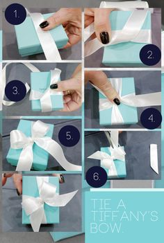 How to Tie a Tiffany's Bow - All Instructions- need this for retying my box