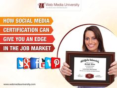Whether you're specifically interested in social media jobs or just want to make your career outlook as bright as possible. Checkout how Social Media Certification can give you an edge in the job market. Social Media Marketing Courses, Marketing Program, Marketing Jobs, Content Marketing, Internet Marketing, Looking For Employees, Social Media Training, Harvard Business Review, Successful Online Businesses