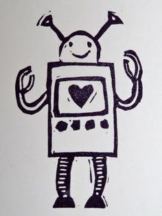 a Stamp a Day: love robot  #Undefined
