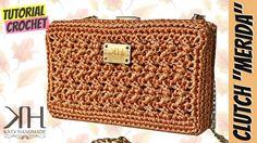 Video Tutorial by Kandmade Ha d Crochet Clutch Pattern, Crochet Clutch Bags, Crochet Handbags, Crochet Purses, Handmade Clutch, Handmade Purses, Diy Purse Making, Crochet Videos, Knitted Bags