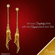 yet statement-making pieces of for every occasion Gold Jhumka Earrings, Jewelry Design Earrings, Gold Earrings Designs, Italian Gold Jewelry, Gold Jewelry Simple, Gold Bangles Design, Gold Jewellery Design, Tanishq Jewellery, Gold Mangalsutra Designs