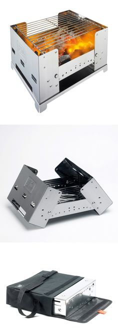 Portable charcoal grill…