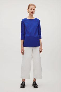 COS | Stitch detailed cotton top