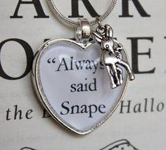Harry Potter ''Always' said Snape' Silver by PrettyLittleCharmsUK