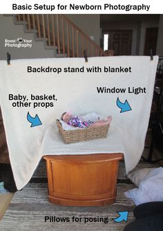 Easy Setup for Formal Newborn Photography   Boost Your Photography