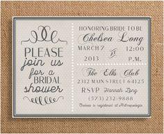 Winter Bridal Shower Invitation by eventsbykatiestl on Etsy, $9.00