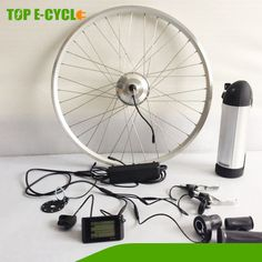 Chinese produced electric bike wheel kit with tube battery $250~$299
