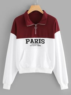 To find out about the Letter Print Quarter Zip Sweatshirt at SHEIN, part of our latest Sweatshirts ready to shop online today! Sweatshirts Online, Printed Sweatshirts, Hoodies, Sweat Shirt, Birthday Dress Women, Printed Pants, Winter Dresses, Dress Winter, Jacket Dress