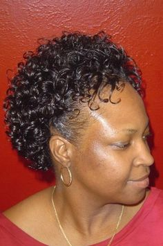 short natural curly black hairstyle, growing out short naturally ...
