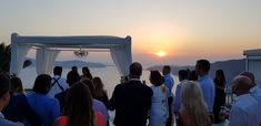 World renowned Santorini Sunset from Le Ciel Santorini  Santorini May 8th 2018 Wedding planners #simplymediterraneanweddings.co.uk