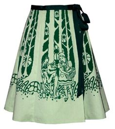 Fairytale forest skirt by madewithlovebyhannah: i love clothes with stories, i have always been a little envious of Ms. Frizzle!!