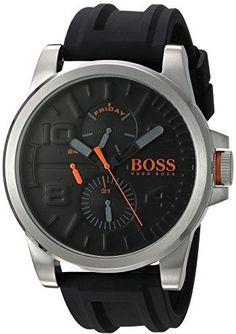 074008e5fbad HUGO BOSS BOSS Orange Men s  DETROIT SPORT  Quartz Stainless Steel and  Silicone Casual Watch. RelojRelojes Para HombresReloj AutomáticoModelos ...