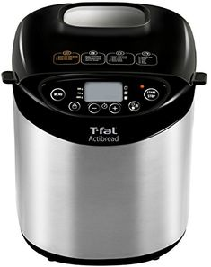 T-fal PF311E ActiBread Programmable Bread Machine Stainless Steel Housing Nonstick Coating Automatic Bread Maker with LCD Display, 2-Pound, Silver | shopswell