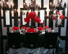 Flowers, Reception, Pink, White, Ceremony, Red, Black, Inspiration, Board, Silver, Haute couture linens