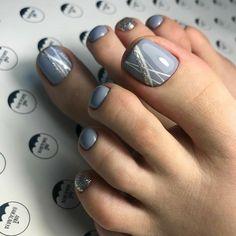 27 Adorable Easy Toe Nail Designs 2020 – Simple Toenail Art Designs : Page 4 of 25 : Creative Vision Design - 27 Adorable Easy Toe Nail Designs 2020 – Simple Toenail Art Designs : Page 4 of 25 : Creative Vis - Pretty Toe Nails, Cute Toe Nails, My Nails, Pretty Toes, Simple Toe Nails, Toenail Art Designs, Toe Nail Designs, Nails Design, Edgy Nail Art