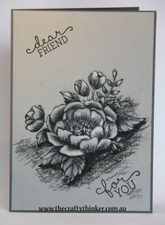 Monochrome Birthday Blooms by Tephie - Cards and Paper Crafts at Splitcoaststampers