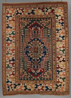 Carpet  Date:     18th–19th century Geography:     Turkey, Ezine/Canakkale Culture:     Islamic Medium:     Wool; symmetrically knotted pile Dimensions:     Rug: H. 104 1/4 in. (264.8 cm) W. 72 3/4 in. (184.8 cm) Classification:     Textiles