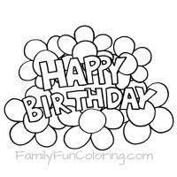 coloring sheets that say happy birthday for the special day of your special one or a - Small Flower Coloring Pages