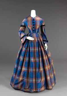 View high resolution   Afternoon Dress    1850s