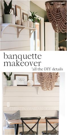 Come see the details of our budget friendly banquette makeover – and get ideas for how you can add character and charm into your home with a few simple changes! Home Decor Inspiration, Simple Way, Banquettes, Diy, Budget, Queen, Furniture, Kitchen, Character