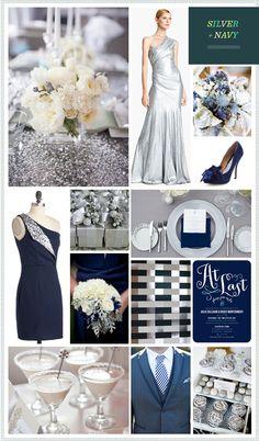 REVEL: Silver + Navy Wedding Inspiration Somethingvintage.com.au