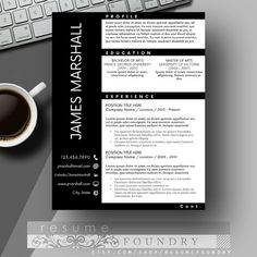 masculine resume template and cover letter for by resumefoundry