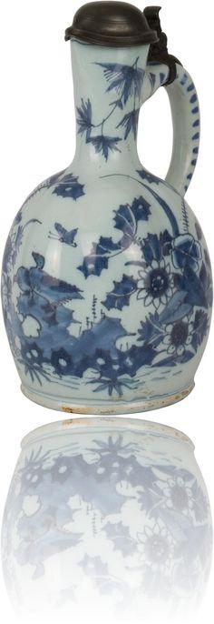 Blue Delfts Jug - Antique Ceramics & Delft Blue, 18th century, Van Nie Antiquairs