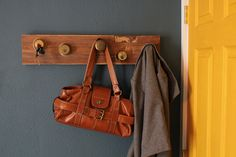 This is such a good idea for a coat rack!