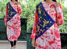 Silk Cotton High neck Shibori Kurti with off shoulder tie up Overcoat heavily embroidered with thread .Size - Large   XL Price - 2299 INR Kindly write to us at teamyellow@yellowkurti.com or private message us here on Facebook for Orders ! Overcoat  Embroidery  Partywear  Kurtis  Shibori  Pink  tieups  23 November 2016