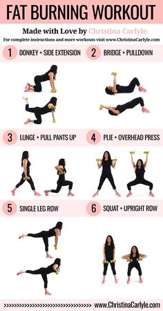 A fun fat burning workout.  This workout was made with full body exercises that will help you burn more calories.  Burn calories quickly with this fat burning workout for women.