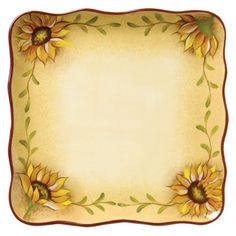 """$30.99  Rise & Shine Square Dinner Plate Set of 4 - 10.5"""""""