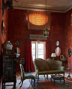 """The NYTimes Style Magazine (@tmagazin: """"#RoomOfTheDay: The British antiques dealer Christopher Gibbs's living room in Tangier. Photo from…"""""""