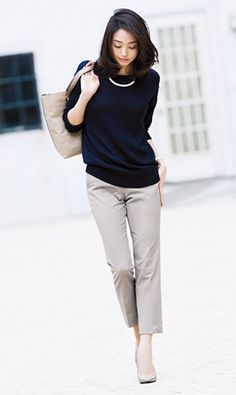 Classic black and tan Office Fashion, Work Fashion, Fashion Looks, Fashion Outfits, Womens Fashion, Casual Chic, Moda Casual, Casual Work Outfits, Classy Outfits