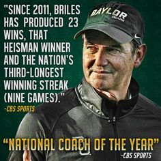 #Baylor's Art Briles getting the recognition he deserves. #SicEm (via BUFootball on Twitter)