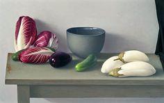 Amy Weiskopf Still Life with White Eggplants and Radicchio  2010