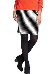 Women's Striped Ponte-Knit Pencil Skirts | Old Navy