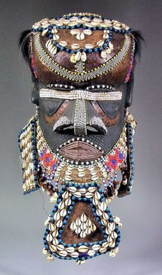 Lot: 422: A Kuba Bushoong Moshamambwooy Helmet Mask (Congo) , Lot Number: 0422, Starting Bid: £250, Auctioneer: The Canterbury Auction Galleries, Auction: Two Day Auction, Date: December 11th, 2012 EST