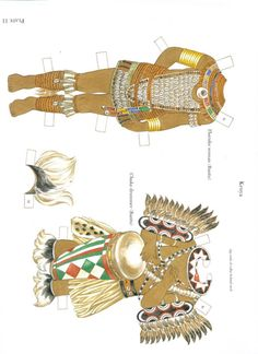 Traditional African Costumes - edprint2000paperdolls - Picasa Web Albums