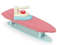 Ironing Set by Le Toy Van. Get help with household chores and encourage imaginative role play with this classic **Le Toy Van Ironing Set**. Wooden Ironing Board, Wooden Food, Wooden Table Top, Vans Kids, Iron Board, Household Chores, Toy Rooms, Kids Wood, Toy Kitchen