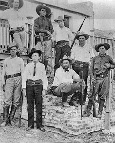 Texas Rangers working near the Rio Grande, abt 1910.