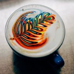 Pin for Later: This Latte Art Instagram Account Is So Pretty, You'll Wonder How People Even Drink the Coffee A high-contrast latte.