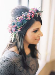 cc7d7b82aed Eclectic Woodsy Wedding by Desi Baytan Photography. Flower Crown Hairstyle Crown HairstylesCorona FloralBridal ...