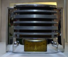 Extremely RARE 1940s Marconi Chrome Tube Radio Stunning | eBay
