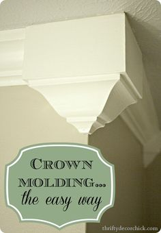 Crown molding -- the