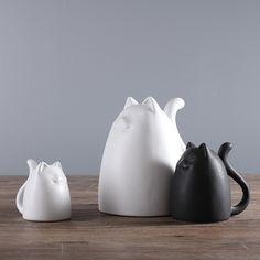 Ceramic cats figurines - Cat Stuff For Cat Lovers