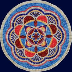 Owl Mosaic, Mosaic Diy, Mosaic Tiles, Hamsa Design, Mandala Design, Mandala Art, Chakras, Hamsa Art, Mosaic Stepping Stones