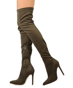 8b565bd5d2af RF ROOM OF FASHION Women s Pointy Toe Stiletto Over-The-Knee Boots. Room