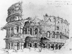 Colosseum drawing by ?